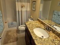 Premium granite countertops in the bathrooms and kitchen
