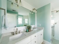 New Construction - bathroom mirror and counter